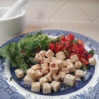 Tofu larb
