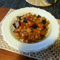Moroccan-style chickpea and eggplant