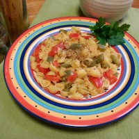 Red lentil and capsicum conchigliette