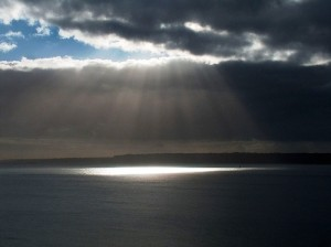Image of rays on water